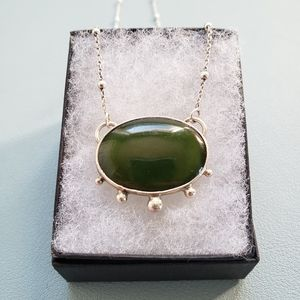 Hand crafted Sterling Silver and Jade Necklace